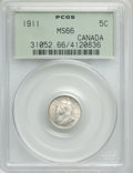 Canada: George V 5 Cents 1911 MS66 PCGS