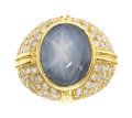 Estate Jewelry:Rings, Star Sapphire, Diamond, Gold Ring The ring fea...