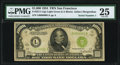 Fr. 2211-L $1,000 1934 Light Green Seal Federal Reserve Note. PMG Very Fine 25