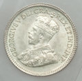 Canada: George V 5 Cents 1917 MS64 ICCS