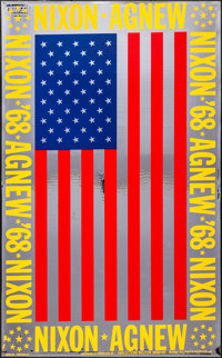 """Richard Nixon Campaign Poster (Reflections Inc., 1968). Rolled, Very Fine+. Mylar Campaign Poster (32"""" X 52"""")..."""