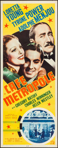 "Movie Posters:Romance, Cafe Metropole (20th Century Fox, 1937). Rolled, Very Fine-. Insert (14"" X 36""). Romance.. ..."