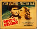 "Movie Posters:Drama, Dust Be My Destiny (Warner Brothers, 1939). Rolled, Fine+. Linen Finish Half Sheet (22"" X 28"") Style A. Drama.. ..."