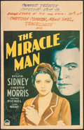 "Movie Posters:Drama, The Miracle Man (Paramount, 1932). Folded, Fine+. Window Card (14"" X 22""). Drama.. ..."