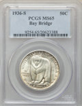Commemorative Silver, 1936-S 50C Bay Bridge MS65 PCGS. PCGS Population: (1970/1209). NGC Census: (1488/699). CDN: $170 Whsle. Bid for problem-fre...