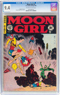 Moon Girl #3 (EC, 1948) CGC NM 9.4 Off-white to white pages