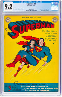 Superman #57 (DC, 1949) CGC NM- 9.2 Off-white to white pages