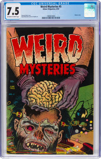 Weird Mysteries #5 (Gillmor, 1953) CGC VF- 7.5 Off-white to white pages