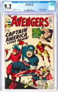 Silver Age (1956-1969):Superhero, The Avengers #4 (Marvel, 1964) CGC NM- 9.2 Cream to off-white pages....