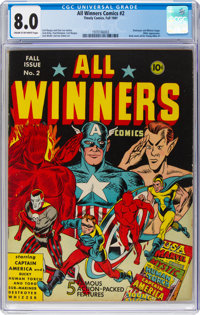 All Winners Comics #2 (Timely, 1941) CGC VF 8.0 Cream to off-white pages