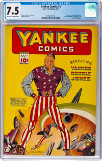 Yankee Comics #1 (Chesler, 1941) CGC VF- 7.5 Off-white to white pages
