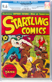 Startling Comics #10 Mile High Pedigree (Better Publications, 1941) CGC NM+ 9.6 White pages