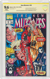 The New Mutants #98 Witnessed Signature Series (Marvel, 1991) CBCS NM+ 9.6 White pages