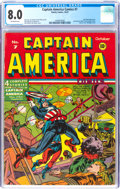 Golden Age (1938-1955):Superhero, Captain America Comics #7 (Timely, 1941) CGC VF 8.0 Off-white pages....