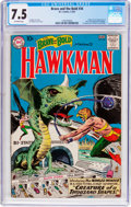 Silver Age (1956-1969):Superhero, The Brave and the Bold #34 Hawkman (DC, 1961) CGC VF- 7.5 Off-white pages....