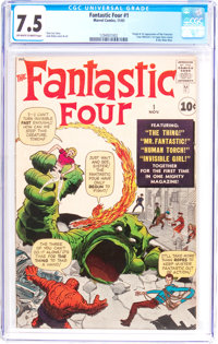 Fantastic Four #1 (Marvel, 1961) CGC VF- 7.5 Off-white to white pages