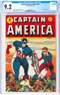 Captain America Comics #57 (Timely, 1946) CGC NM- 9.2 Cream to off-white pages