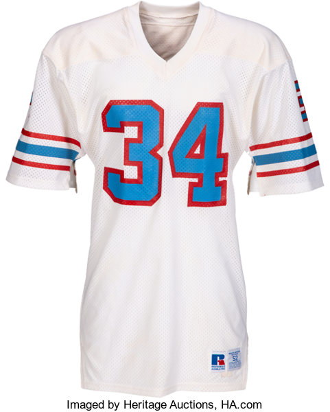 low priced 2825f 55dea Circa 1983 Earl Campbell Game Worn & Signed Houston Oilers ...