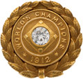 Baseball Collectibles:Others, 1912 Boston Red Sox World Championship Pendant Presented to JakeStahl....