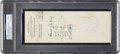 Baseball Collectibles:Others, 1925 Lou Gehrig Signed New York Yankees Rookie Payroll Check, PSA/DNA Mint 9....