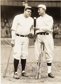 The Only Known Babe Ruth & Ty Cobb Dual-Signed Photograph