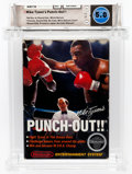 Video Games:Nintendo, Mike Tyson's Punch-Out!! (NES, Nintendo, 1987) Wata 5.0 CIB (Complete in Box) Box 3.0, Cart 8.0, Manual 4.5; Variant: White Bu...