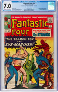 Silver Age (1956-1969):Superhero, Fantastic Four #27 (Marvel, 1964) CGC FN/VF 7.0 Off-white to white pages....