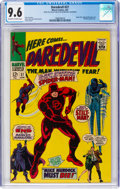 Silver Age (1956-1969):Superhero, Daredevil #27 (Marvel, 1967) CGC NM+ 9.6 Off-white to white pages....