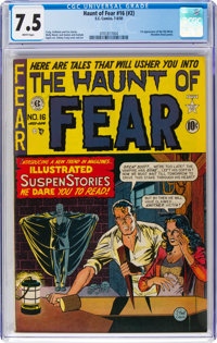 Haunt of Fear #16 (#2) (EC, 1950) CGC VF- 7.5 White pages