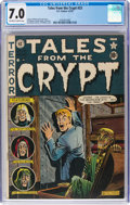 Golden Age (1938-1955):Horror, Tales From the Crypt #23 (EC, 1951) CGC FN/VF 7.0 Off-white to white pages....