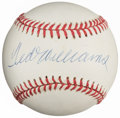 Autographs:Baseballs, Ted Williams Single Signed Baseball, Upper Deck Authenticated....