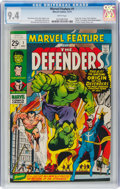 Bronze Age (1970-1979):Superhero, Marvel Feature #1 The Defenders (Marvel, 1971) CGC NM 9.4 White pages....