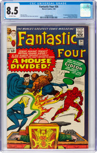 Fantastic Four #34 (Marvel, 1965) CGC VF+ 8.5 Off-white pages