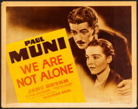 """We Are Not Alone (Warner Brothers, 1939). Rolled, Fine/Very Fine. Linen Finish Half Sheet (22"""" X 28"""") Style B..."""