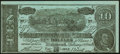 Confederate Notes:1864 Issues, Facsimile T68 $10 1864 Ad Note About Uncirculated.. ...