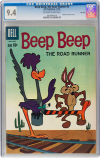 Beep Beep, The Road Runner #5 File Copy (Dell, 1960) CGC NM 9.4 Off-white to white pages