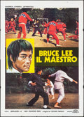 """Movie Posters:Action, Bruce Lee: A Dragon Story (CRC, 1978). Folded, Fine/Very Fine. Italian 4 - Fogli (55"""" X 77.5""""). Action.. ..."""