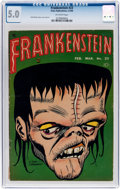Golden Age (1938-1955):Horror, Frankenstein Comics #23 (Prize, 1953) CGC VG/FN 5.0 Off-white pages....