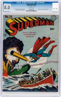 Superman #20 (DC, 1943) CGC VF 8.0 White pages