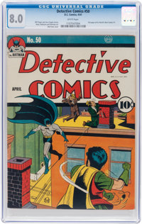 Detective Comics #50 (DC, 1941) CGC VF 8.0 White pages