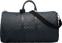 "Louis Vuitton Graphite Damier Coated Canvas Keepall Bandouliere 55 Condition: 2 22"" Width x 12"" H"