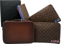 Set of Five: Montblanc & Louis Vuitton Document Holders Condition: 3 See Extended Condition Repor... (Total: 5)