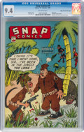 Golden Age (1938-1955):Miscellaneous, Snap Comics #9 Mile High Pedigree (Chesler, 1944) CGC NM 9.4 Off-white pages....