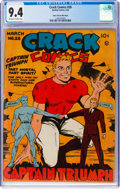 Golden Age (1938-1955):Superhero, Crack Comics #28 Mile High Pedigree (Quality, 1943) CGC NM 9.4 Off-white to white pages....