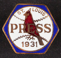 1931 World Series Press Pin (St. Louis Cardinals)