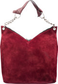 Luxury Accessories:Bags, Jimmy Choo Burgundy Suede Raven BagConditio...