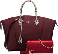 Louis Vuitton Set of Three: Red Top Handle Bag, Crossbody Bag & Keychain Condition: 2 See Extende... (Total: 3)