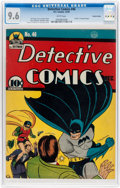 Golden Age (1938-1955):Superhero, Detective Comics #46 Central Valley Pedigree (DC, 1940) CGC NM+ 9.6 White pages....