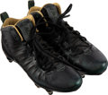 Football Collectibles:Others, 2012-13 Charles Woodson Game Worn Green Bay Packers and Oakland Raiders Jordan Brand Special Edition Cleats. ...