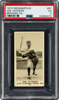 Baseball Cards:Singles (Pre-1930), 1916 Indianapolis Brewing Co. Joe Jackson #87 PSA VG 3 - Only Two PSA Graded Examples! ...
